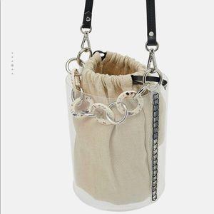 Zara Tortoiseshell Vinyl Crossbody Bucket Bag